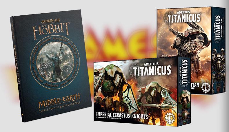 Neue Produkte für Adeptus Titanicus und Middle-Earth