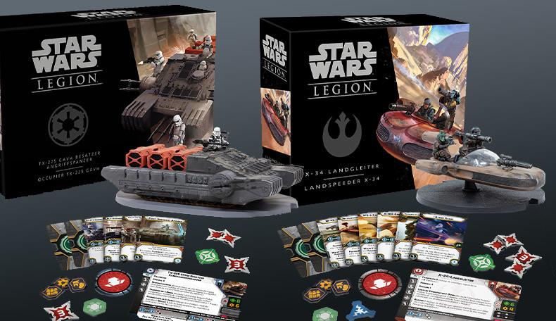 Star Wars Legion Besatzer und Speeder