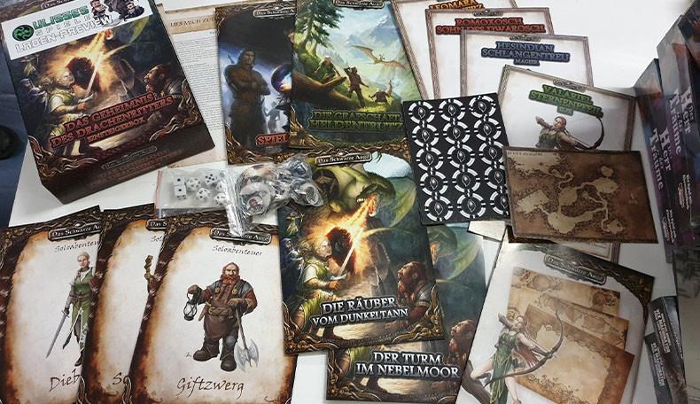 Das Schwarze Auge – Preview des Spielmaterial der Einsteigerbox Das Geheimnis des Drachenritters