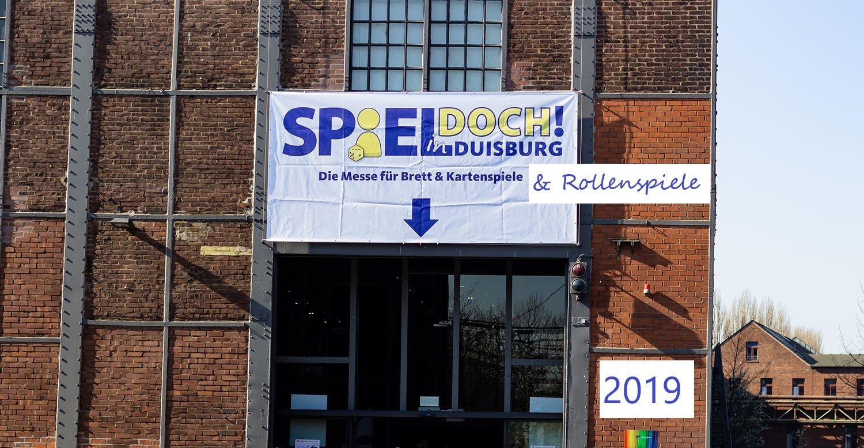 Eingang zur SPIEL DOCH! 2019 in Duisburg