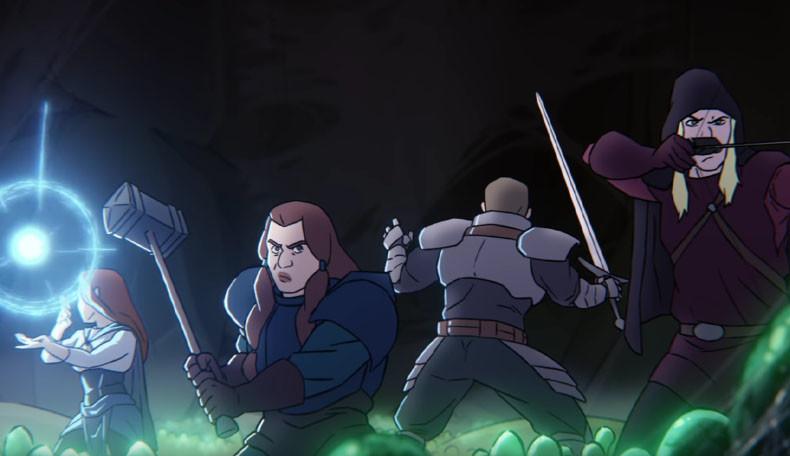 Helden stehen im Computerrollenspiel Solasta einer dunklen Bedrohung gegenüber.